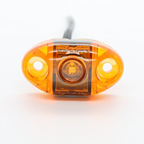 (TecNiq, Inc LED Oval Surface Mount Side Marker Light - USA Made with, PC Rated (Amber))