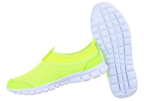 Damen Freizeitschuhe Schuhe Runner Sportschuhe Turnschuhe Neongrün Blau Pink 36 37 38 39 40 41 Neongrün