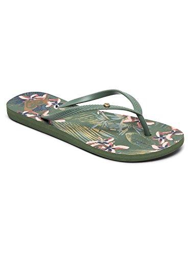 Roxy Women's Bermuda II Sandals Flip-Flop, Olive, 8 M US (Bermuda Olive)
