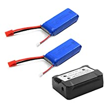 XCSOURCE 2pcs 7.4V 2000mAh 25C Lipo Battery + 2 in 1 Battery Balance Charger For Syma X8C X8W X8G Quadcopter BC587