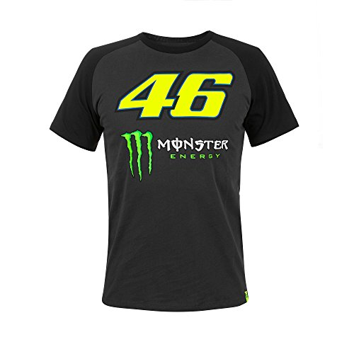 Valentino Rossi VR46 Moto GP Race Logo Black T-shirt Official New