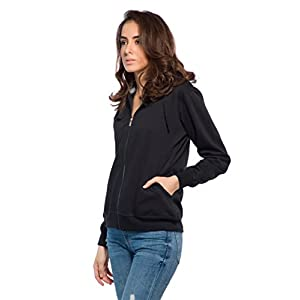 Alan Jones Clothing Full Sleeve Solid Women's Sweatshirt