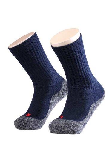 FALKE Unisex - Kinder Socken 10450 Active Warm SO, Gr. 27/ 30 Blau (marine 6120)