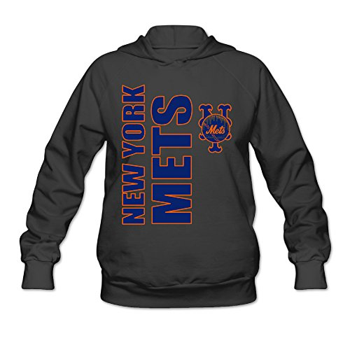 Hotboy19 Women's Long Sleeve Sweatshirt New York Sport Baseball Logo Black Size L