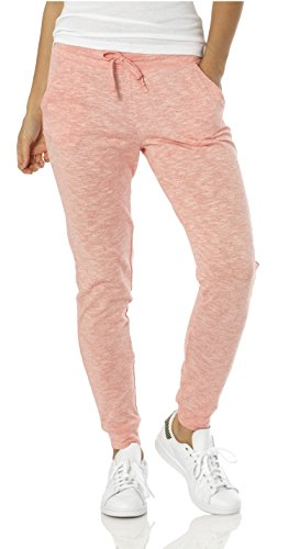VBRANDED Women's Lightweight Fitted Skinny Joggers Sweatpants X-Small Peach]()