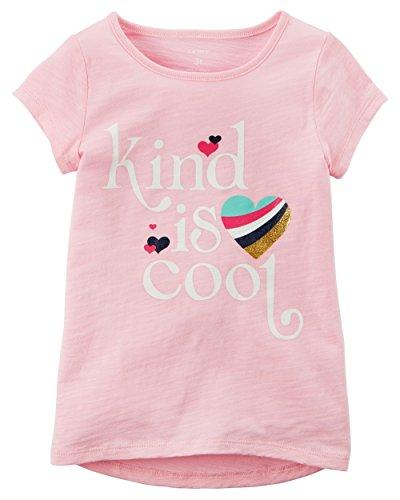 Carter's Little Girls' Kind is Cool Hi-Lo Tee, 2-Toddler Light Pink