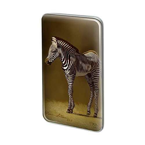 Pin To Foal - Graphics and More Baby Zebra Young Foal Metal Rectangle Lapel Hat Pin Tie Tack Pinback