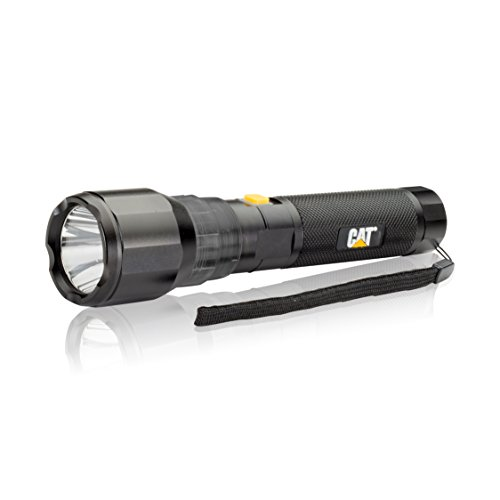 Cat CT1105 570 Lumen Rechargeable High Power Flashlight with CREE LED Technology Features a Battery Charge Level Indicator (Black) -  E-Z Red