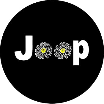Jeep Daisy Spare Tire Cover (Select popular sizes in drop down menu or contact us-ALL SIZES AVAILABLE)