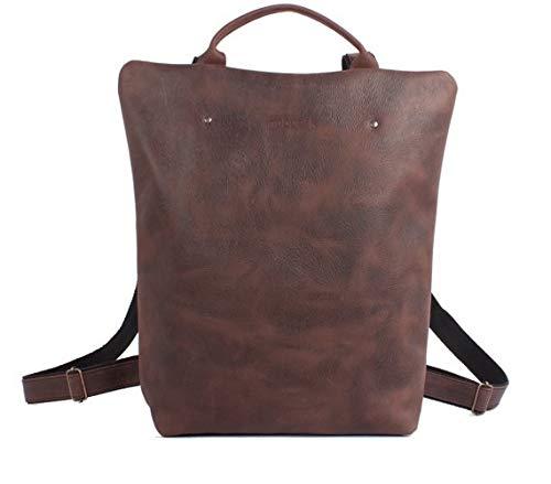 Mochila cuero marrón, mochila segura marrón, mochila mujer ciudad, mochilas viajes, mochila mujer piel, mochilas Barcelona, mochila grande: Amazon.es: ...