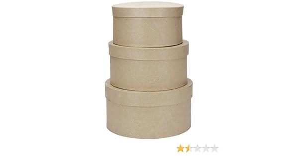 Darice - Plantilla para Grabar en Relieve Paper-Mache Caja Redonda de cartón -4-Inch, 12,7 y 15,2 cm: Amazon.es: Hogar