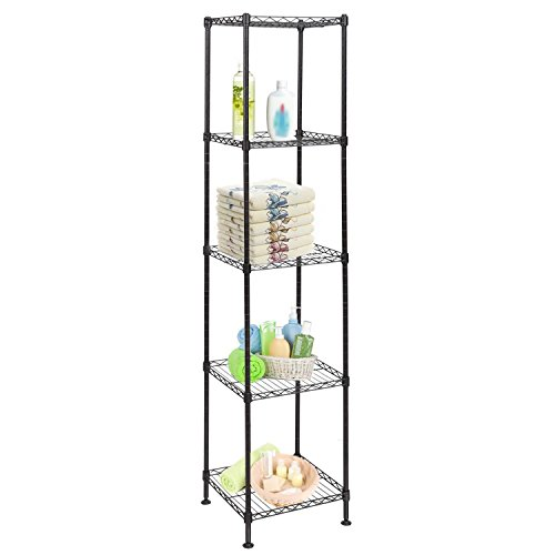 - [US Stock]4/5 Tier Heavy Duty Multi-Functional Storage Organization Rack Shelving Unit for Kitchen Living Room Bathromm(5-Tier Shelf)