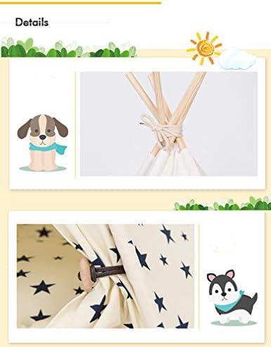 Sunnykud Tente tipi pour animaux de compagnie avec coussin amovible et lavable