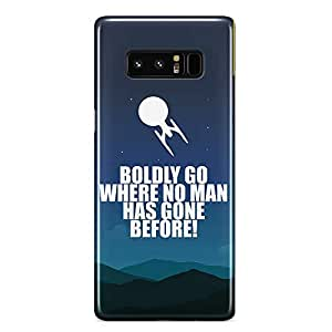 Loud Universe Star Trek Quote Samsung Note 8 Case Boldly Go Quote Samsung Note 8 Cover with 3d Wrap around Edges