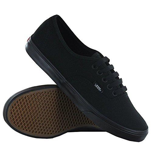 Vans Unisex Authentic Lo Pro Skate Shoe (8 B(M) US Women / 6.5 D(M) US Men, Black/Black)