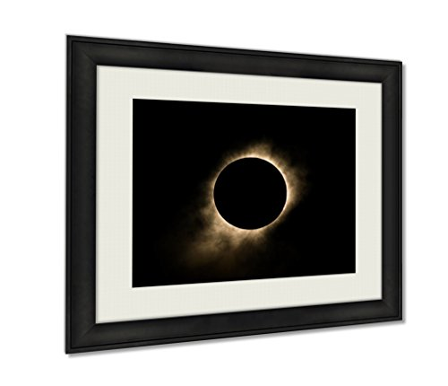 Eclipse Path Light (Ashley Framed Prints, Total Solar Eclipse, Wall Art Decor Giclee Photo Print In Black Wood Frame, Ready to hang, 16x20 Art, AG6464644)