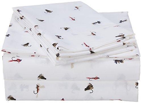 Art Fishing Fly (Eddie Bauer Sheet Set Queen Fishing Flies)