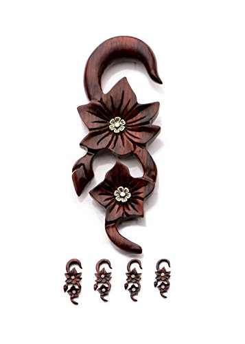 pair-of-organic-wood-hand-carved-flower-brass-inlay-ear-plugs-gauges-6g-4g-2g-0g-4mm-5mm-65mm-8mm