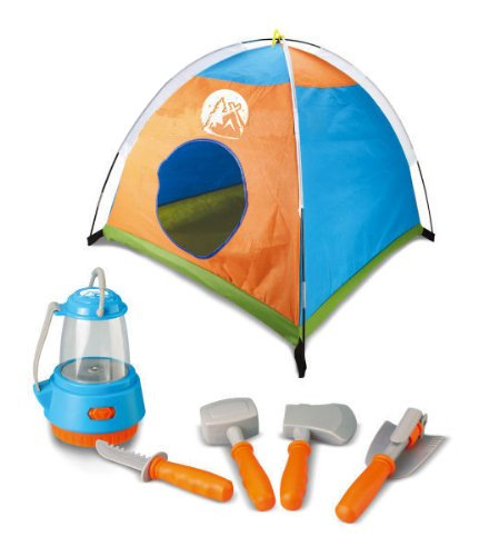 Little Explorer Camping Tent and Tools Toy Gear Play Set for Kids with Lantern (Tent Camping Toy)