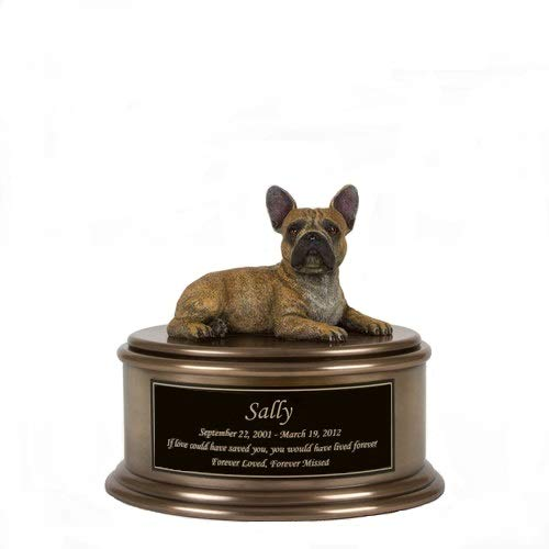 Perfect Memorials Custom Engraved French Bulldog Figurine Cremation Urn by Perfect Memorials
