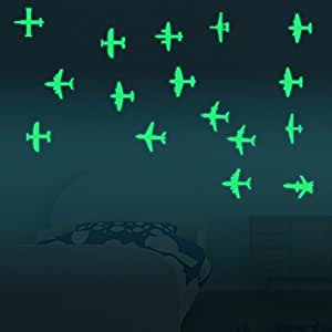 Wall Art - Honana Dx-129 12pcs 7x8cm Fluorescent Glow Fighter Wall Sticker - Fluorescent Fighter Wall Stickers - Stickers