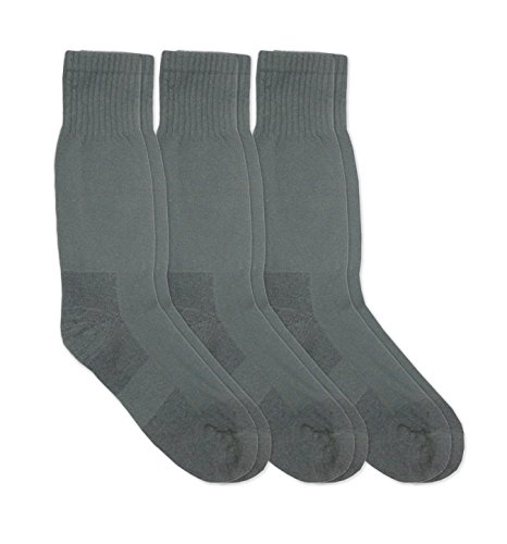 Jefferies Socks Mens Military Blister Guard Mohair Wool Combat Boot Crew Socks 3 Pair Pack (Sock:10-13/Shoe:9-13, Foliage (Blister Guard Socks)