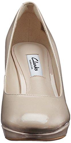 Kendra Tacón Clarks Mujer para Sienna Zapatos Nude de Patent Beige dvnw4Oq
