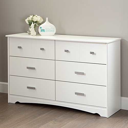 South Shore Tiara 6-Drawer Double Dresser, Pure White by South Shore