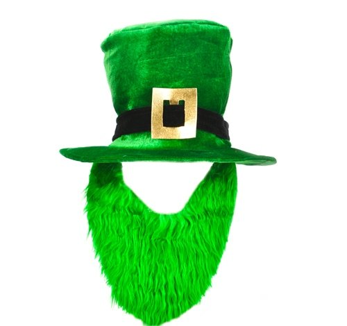 DollarItemDirect ST. Patrick's Day TOP HAT and Beard, Case of 24