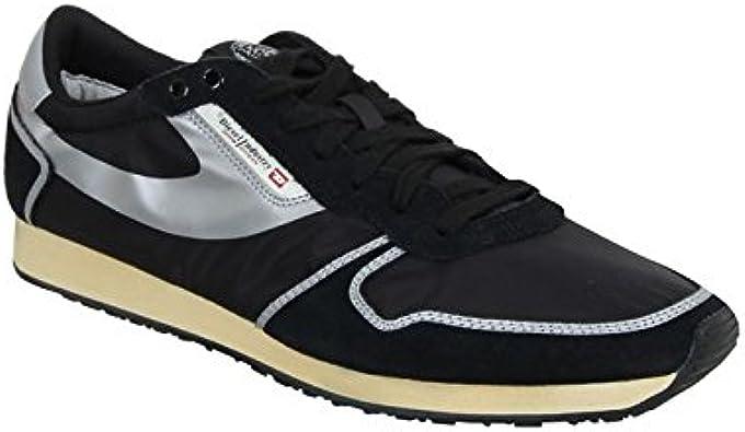para Hombre diésel de la Gran Muralla China Era Pass Zapatillas de Cordones de Zapatilla de Deportes, Color Negro, Talla 39: Amazon.es: Zapatos y complementos