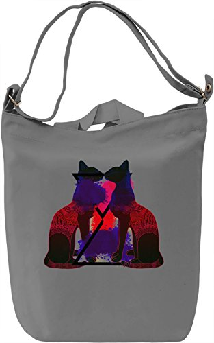 Egypt Cats Borsa Giornaliera Canvas Canvas Day Bag| 100% Premium Cotton Canvas| DTG Printing|