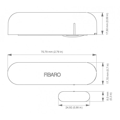 FIBARO Door//Window Sensor 2 Blanc D/étecteur douverture Z-Wave+