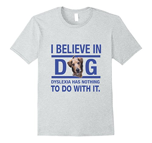 Believe Dog T-shirt - Mens T Shirt for Dog Lovers I Believe in Dog - Light Colors 2XL Heather Grey