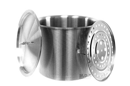 - Stock-Pot 20 Qt Stainless Steel Commercial Heavy Duty Steamer Tamale Tamal Pot Kitchen Restaurant Olla Steam Rack Pot with Lid (20 Qt StockPot with Steam Rack)