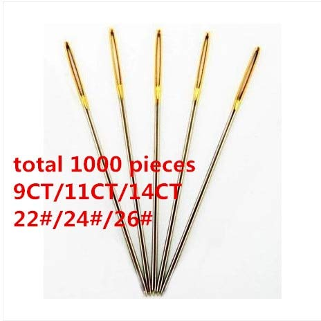 Embroidery Needles - Embroidery Needle Cross Stitch 22# 24# 26# Needle Total 1000 Pieces Wholesale by Embroidery Needles