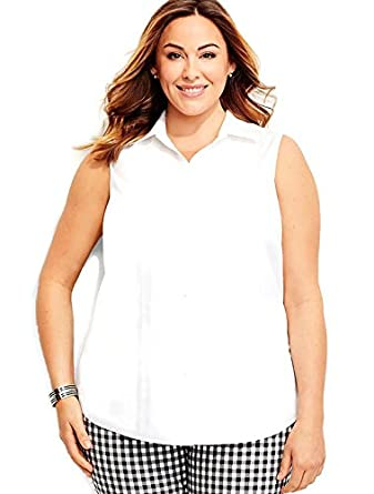b66d21d9f747 Image Unavailable. Image not available for. Color  Talbots  64.50 Sleeveless  Wrinkle-Resistant Button Down Shirt ...