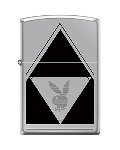 Zippo Playboy Triangle Pocket Lighter, High Polish ()