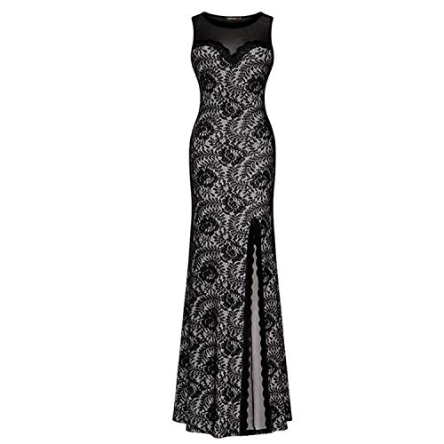 Dress Attraverso Women Split Maxi Patchwork Pragmaticv Vedi Robe Black Back Long srtCdhQ