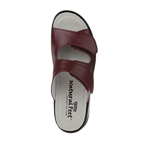 tessamino Damen Pantolette   aus Sola-Stretch   klassisch   Weite H   für Einlagen Weinrot