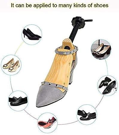 EUR 34-38 Bhu Wooden Shoe Stretcher Adjustable 2-Way Shoe Trees for Men /& Women,Set of 2,S