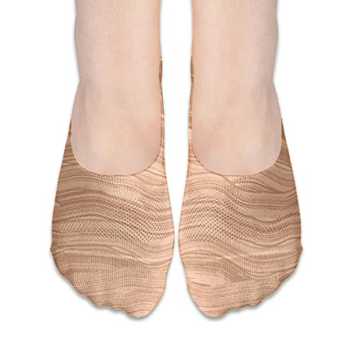 (Sand Wave Seamless Extra Low Profile for women girl Casual Low Cut Non Slip invisible Boat Liner Socks)