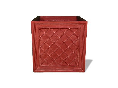 (Amedeo Design 2514-29T ResinStone Iron Grid Planter, 36 by 36 by 36-Inch, Terra Cotta)