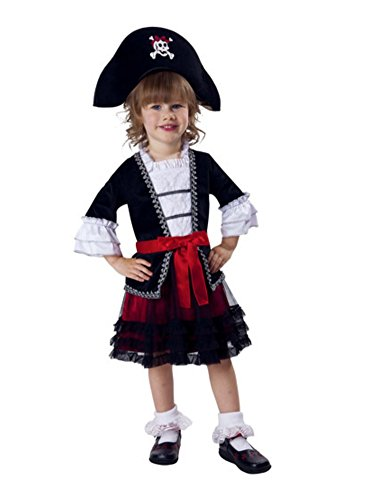 Infant & Toddler Girls Royal Pirate Costume with Dress & Headpiece 2T -