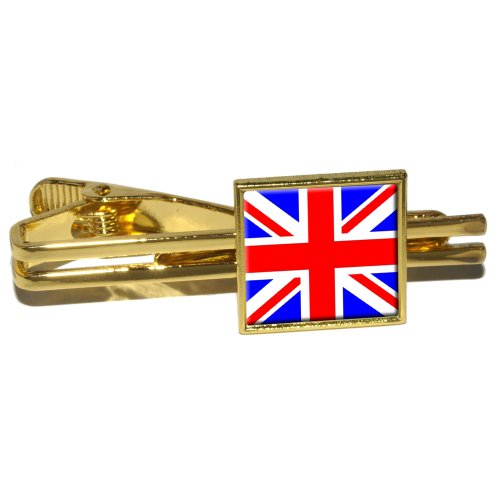Britain British Flag - Union Jack Square Tie Bar Clip Clasp Tack - - Store Square Union