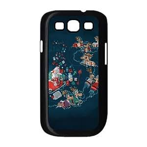 Samsung Galaxy S3 9300 Cell Phone Case Black Xmas roller coaster LV7101544
