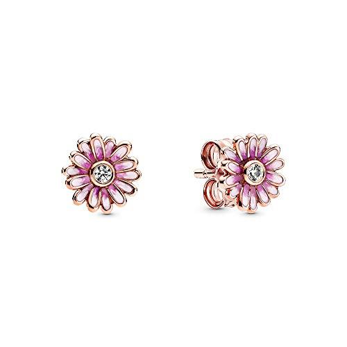 Pandora Rosafarbene Gänseblümchen Ohrringe