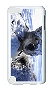 Ipod 5 Case,MOKSHOP Awesome sled dog husky wake up Hard Case Protective Shell Cell Phone Cover For Ipod 5 - PC White