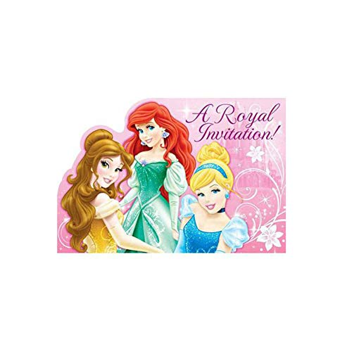 Disney A Royal Princess Birthday Invites 16 Count