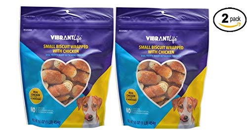 Vibrant Life Biscuit Wrapped with Chicken Dog Treats, NET WT 16 oz. (CPB16) - Pack of ()