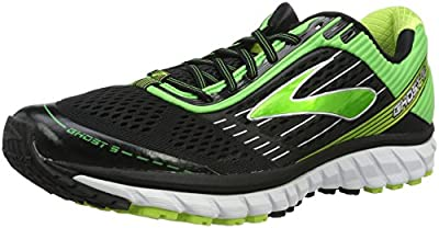 Brooks Ghost 9- Black/Classic Green/Lime Punch, Medium (D) Width